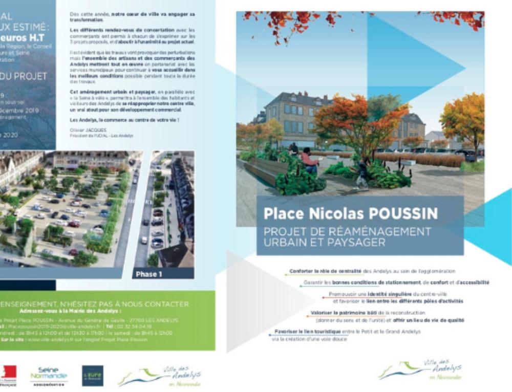 Projet de réaménagement Place Poussin 2019-2020